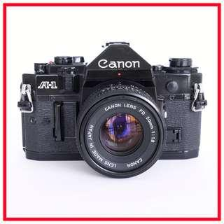Canon A-1 A1 35mm Film Camera (big brother of AE-1) + FD 50mm F1.8