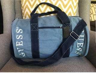 GUESS Denim Duffle Bag