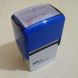 Colop Self Inking Stamp Acknowledge Receipt