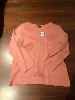 Dotti Sweater Jumper Pink Peach Top