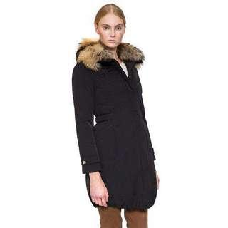 Woolrich Winter Down Coat with Fur Trim - XSmall