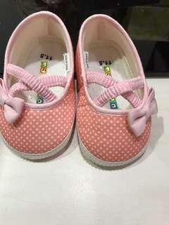 🚚 全新 麗嬰房 my nuno 粉色點點學步鞋 11.5cm
