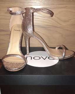 Novo glitter rose gold heels