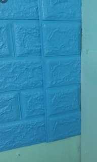 淺藍色牆貼