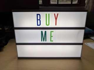 Typo Light Box with lots of letter
