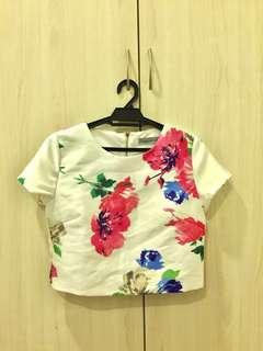 Brand New Floral Boxy Crop Top (Washed & Without Tag)