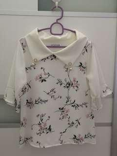 White Floral Top #OCT10