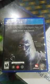 Shadow Of Mordor PS4 Games