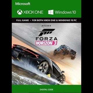 Xbox One Forza Horizon 3 Digital Download Code