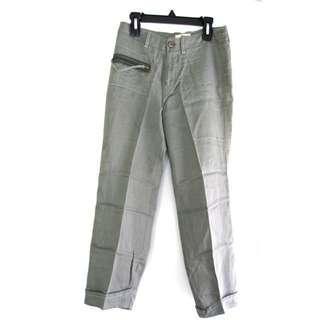 Mango Linen Capri Pants
