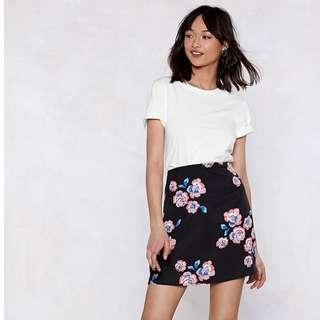 Nasty Gal Floral Skirt