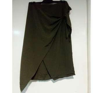 Noughts And Crosses Side Tie Wrap Skirt