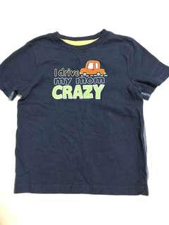 "Jumping beans ""I drive my mom crazy"" car Tee in blue"