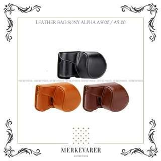 Tas Leather Bag Case Kamera Mirrorless Sony Alpha A5000 / A5100 Camera