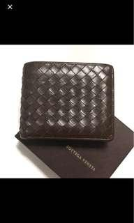 (DEAL TODAY) BV Bottega Veneta Brown Mens Wallet with Coin and Photo ID Compartments