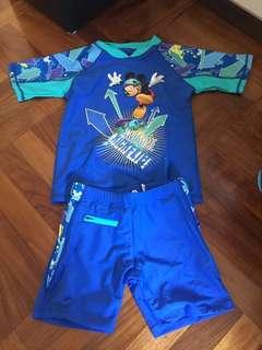 全新米奇泳衣兩件裝