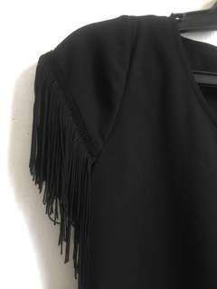 Black with Tassel Sleeves Top *SALE