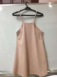 Pastel Pink Halter Dress