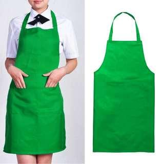 BN green apron for cooking baking D and T woodwork metalwork Design and Technology