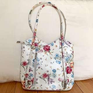 KULIT ASLI flower convertible tote/backpack