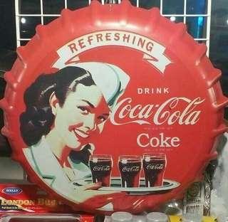 Coca Cola Tin Signboard