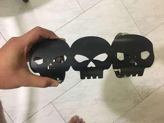 skull exhaust guard
