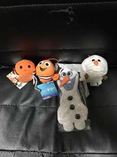 Disney 迪士尼 tsum tsum finding nemo frozen Olaf 毛公仔