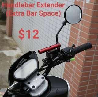 Handlebar Extender (Extra Bar Space for IU, GPS Case, Spot Light)