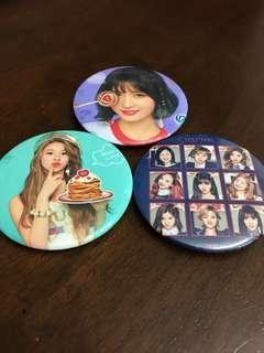 Twice badges