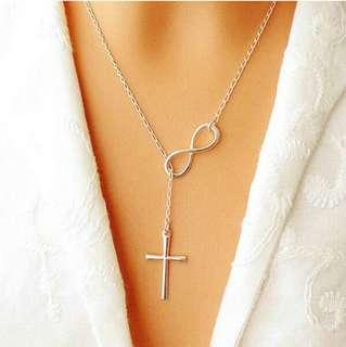 HOT Fashion choker necklaces boby jewelry Simple 8 Shaped Cross Collar Choker Statement Necklaces