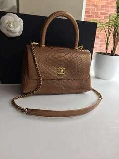 Python leather Chanel Coco Bag