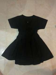 Black skater dress with back cut out
