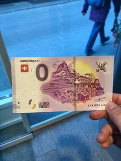 瑞士法郎 CHF 0  紀念貨幣 banknote souvenir