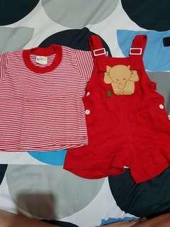 Red Jumpsuit Set