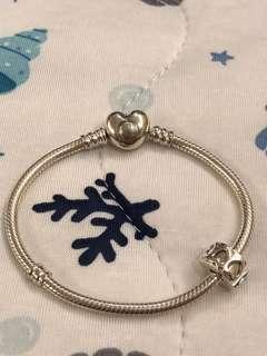🚚 Pandora 全新 愛心手鍊 16cm
