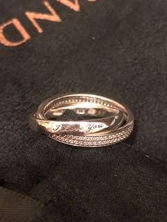 🚚 PANDORA[週末限定]SWEET PROMISE RING #54 承諾 雙環戒指