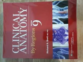 Clinical Anatomy By Regions snell 9th ed