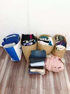 EXTRA LARGE BAGS OF CLOTHING, SOME BNWT
