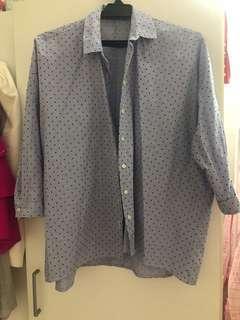 Zara Shirt Blue L size