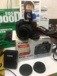 Canon 1000D with 18-55mm lens kit !!!