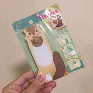手帳的好朋友 - 可愛松鼠造型便條紙