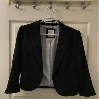Size 4/S Esprite Black Blazer