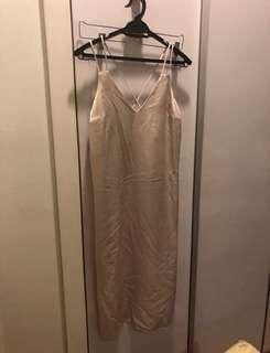 Miss Selfridge champagne color dress