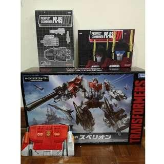 Takara Tomy Unite Warriors Combiners UW 01 Superion with Add Ons