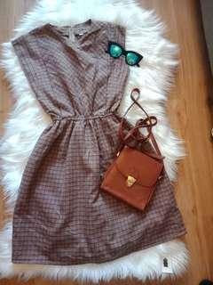 Checked brown dress 8