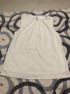 All would envy white chiffon sleevess top