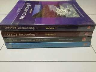 Accounting textbooks (good condition)