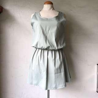 Silk pale green dress