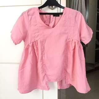 PINK CUTE BLOUSE
