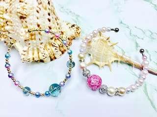 水晶vs幻彩珠珠手鐲
